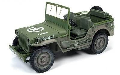 JEEP WILLY 1941 OLIVE DIRTY EFFECT