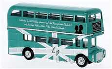 AUTOBUS ROUTEMASTER 70TH ANNIVERSARY OF HM QUENN ELIZABETH II W/  HRH PRINCE PHILIP DUKE OF EDINBURH