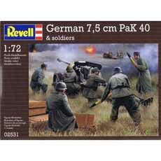 REVELL 02531 GERMAN 7, 5 cm PAK 40 SOLDIERS