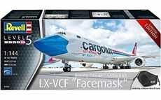 REVELL 03836 BOEING 747-8F CARGOLUX LX-VCF FACEMASK 81 AIRBUS A350-900 LUFTHANSA